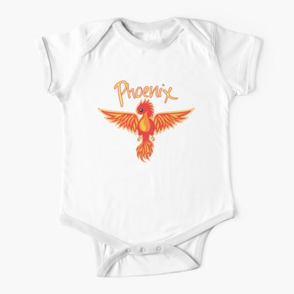 Phoenix With Title Short Sleeve Baby One-Piece
