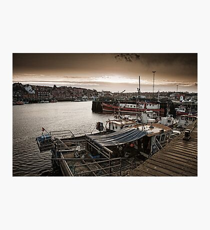 The harbour side at dusk Photographic Print