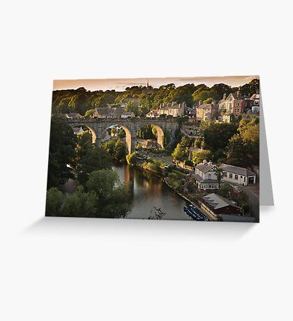 Knaresborough sunset Greeting Card