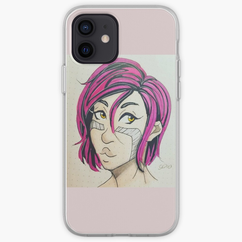 Pink-haired Alita! iPhone Case & Cover