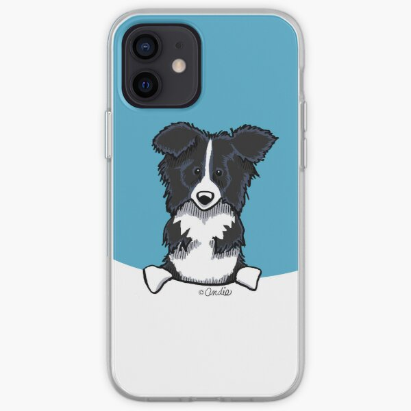 Peeking Border Collie iPhone Soft Case