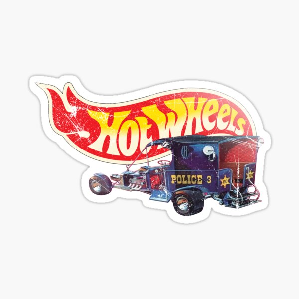 Hot Wheels Paddy Wagon 1970 Tom Daniels - Authentic, Vintage, Distressed  Sticker