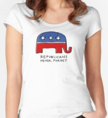 Republicans Never Forget Women's Fitted Scoop T-Shirt