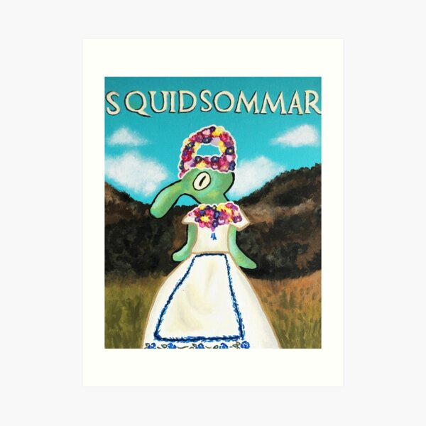 Squidsommar Art Print