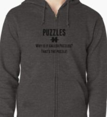 Puzzles Zipped Hoodie