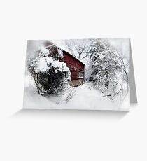 Red Barn Abandoned  Greeting Card