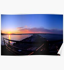 Sackets Harbor Sunset Poster