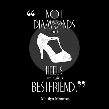 Marilyn Monroe Shoe Quote iPhone Case by lmlm6819