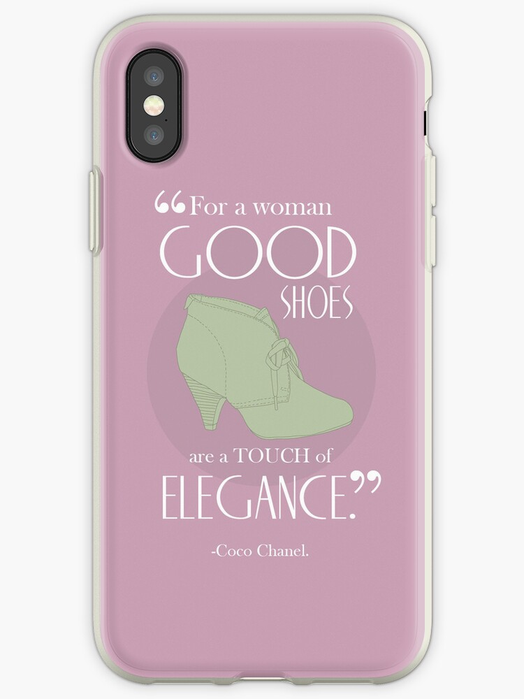 """Coco Chanel Shoe Quote iPhone Case"" iPhone Cases & Covers ..."