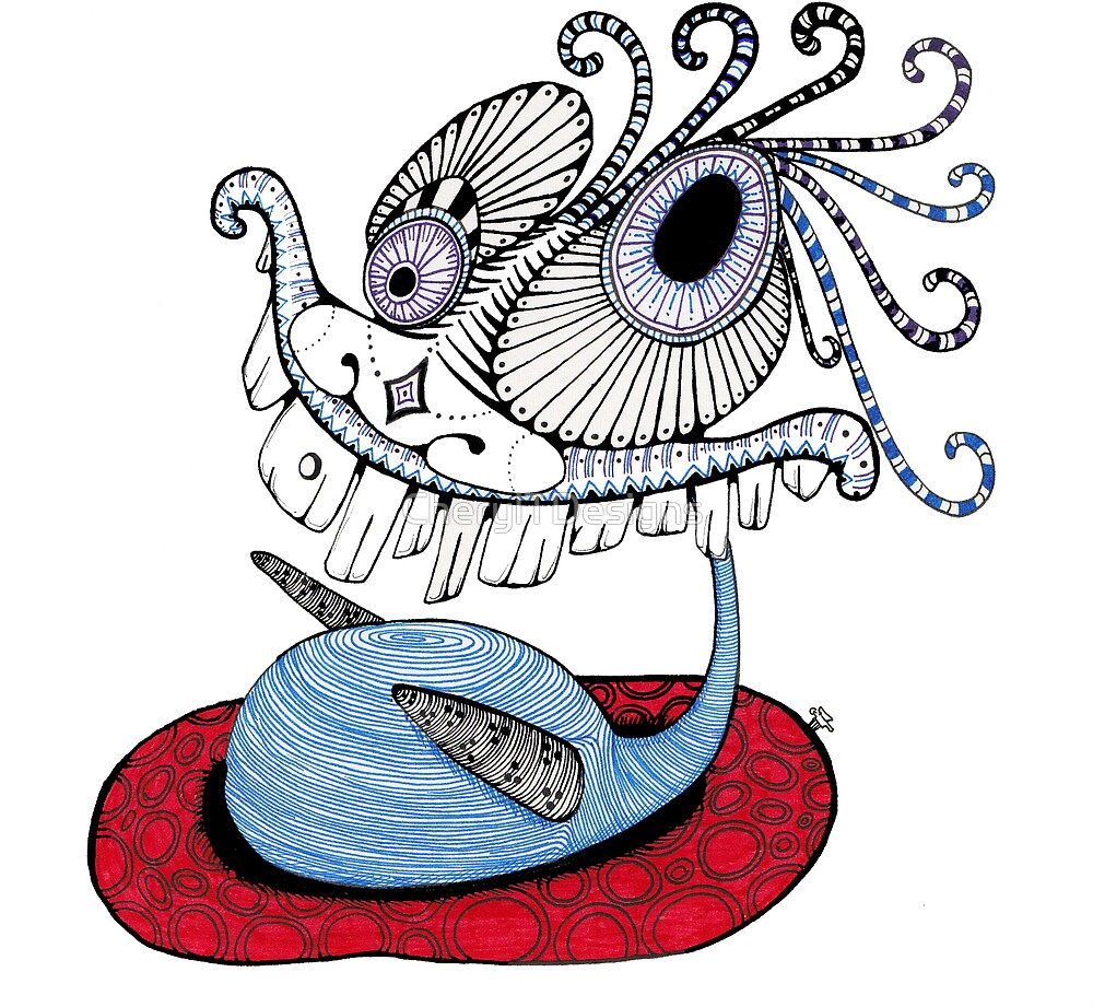 Swimming Creature  by CherylTDesigns