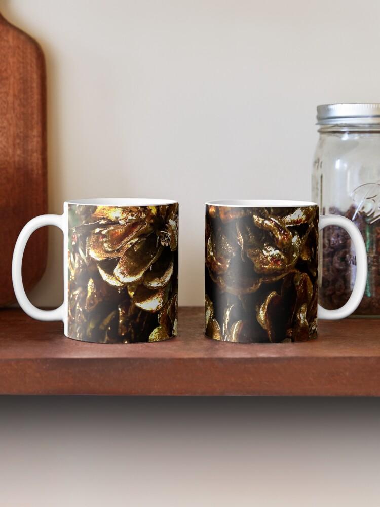 Alternate view of Golden Pine Cones Mug