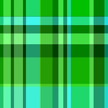 Hot Green/Blue Plaid iPhone, iPod Cases by A1RB