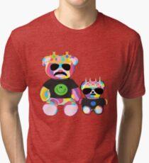 Rainbow Bear with shirts Tri-blend T-Shirt