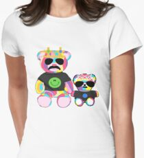 Rainbow Bear with shirts Women's Fitted T-Shirt