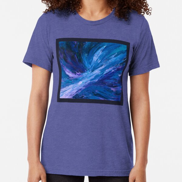 Apex, Abstract Landscape Art by Courtney Hatcher Tri-blend T-Shirt