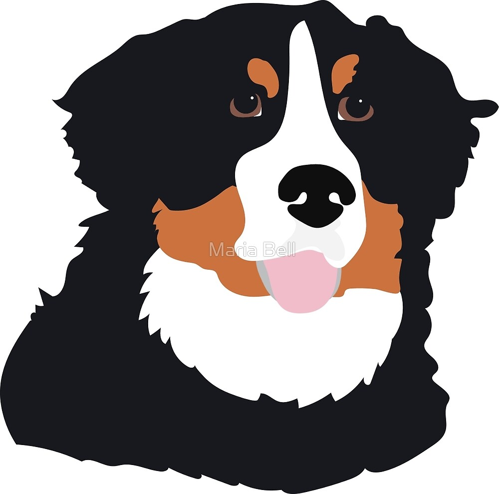 Bernese Mountain Dog by Maria Bell