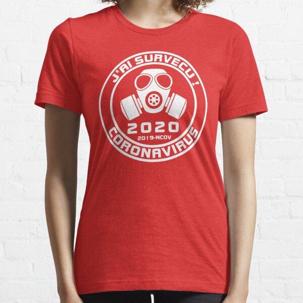 J'ai survecu Covid-19 2020 Coronavirus  Quebec (Design Original !! ) Essential T-Shirt