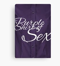 The Purple Shirt of Sex Canvas Print