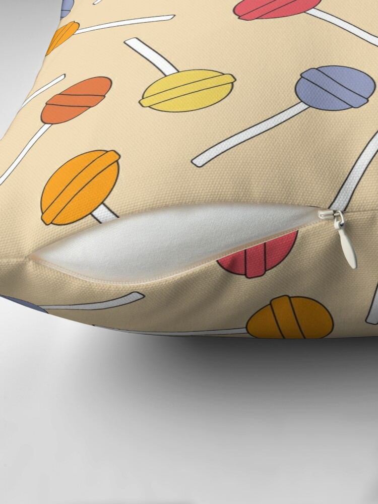 Alternate view of Happy Lollipop Sugar Candy Throw Pillow