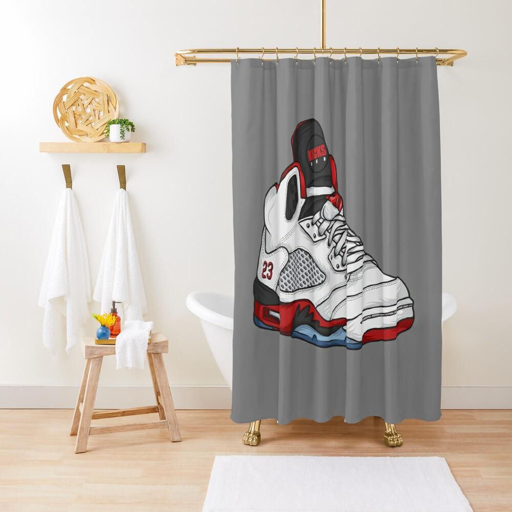 Shoes Fire Reds (Kicks) Shower Curtain