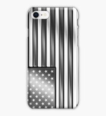 American Flag 2 - USA - Metallic - Steel iPhone Case/Skin