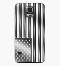 Funda/vinilo para Samsung Galaxy American Flag 2 - USA - Metallic - Steel