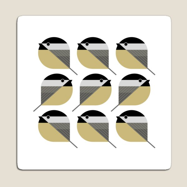 Nine Chickadees Magnet