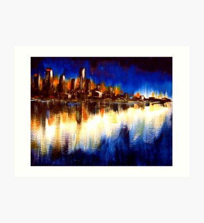 Cityglow Art Print