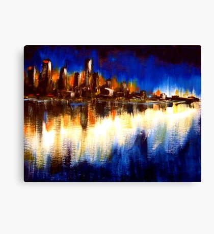 Cityglow Canvas Print