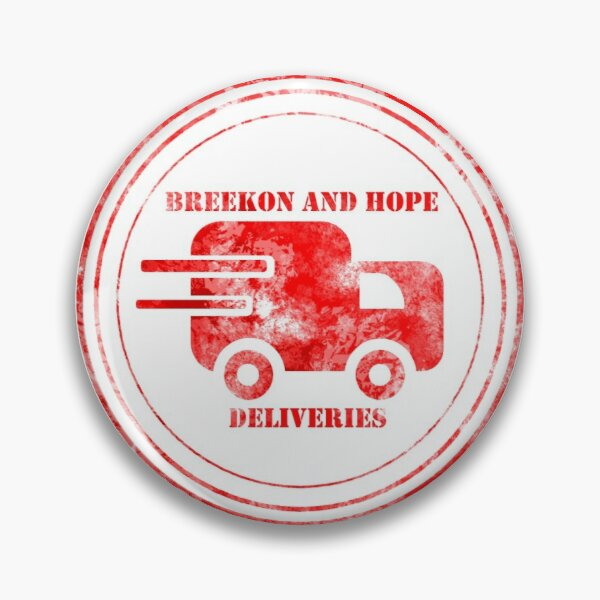 Breekon and Hope deliveries stamp Pin