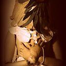 The human-puppet bird by Valeria Dalmon