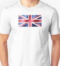 British Flag - UK - Metallic Unisex T-Shirt