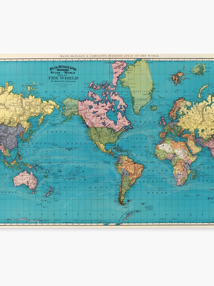 Vintage Map of The World (1897)\