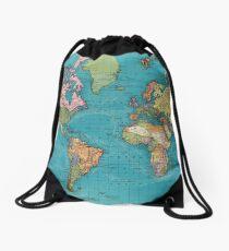 Vintage Map of The World (1897) Drawstring Bag