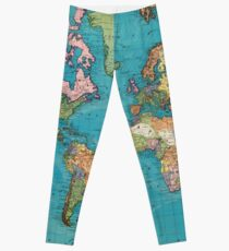 Vintage Map of The World (1897) Leggings