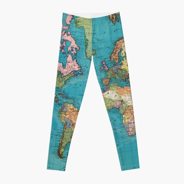 Vintage Map of The World (1897) Leggings