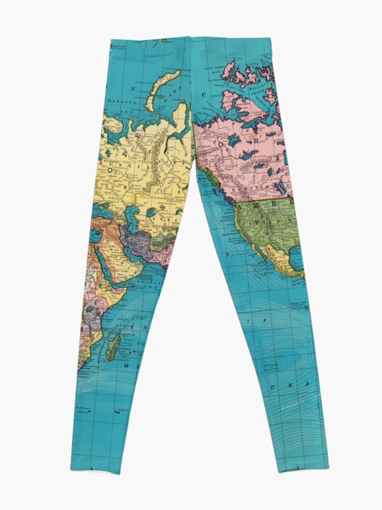 Alternate view of Vintage Map of The World (1897) Leggings