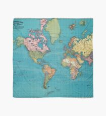 Vintage Map of The World (1897) Scarf