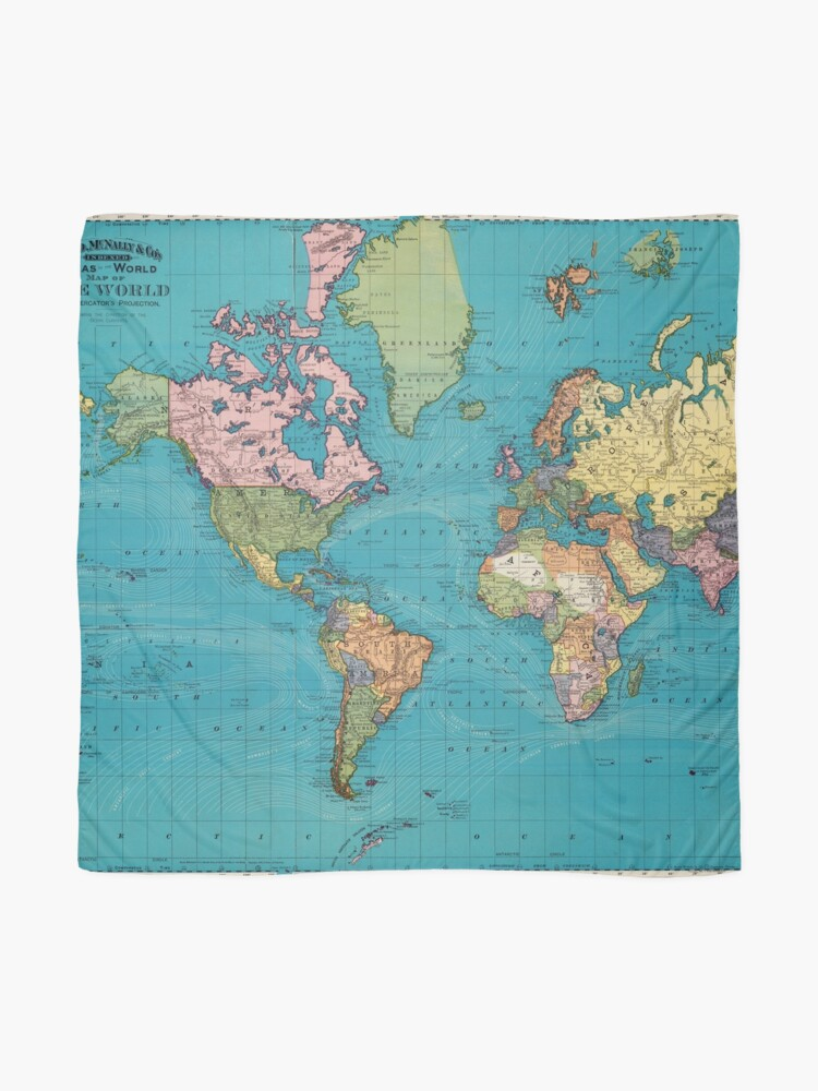 Alternate view of Vintage Map of The World (1897) Scarf