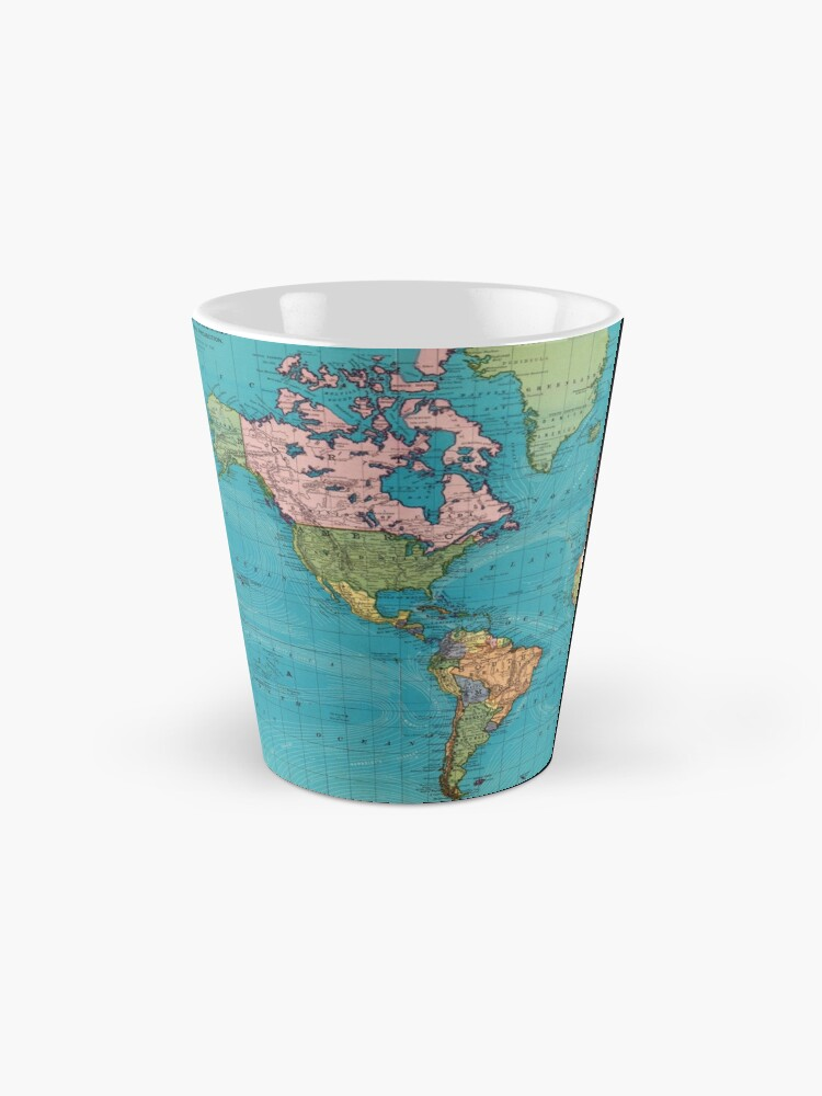 Alternate view of Vintage Map of The World (1897) Mug