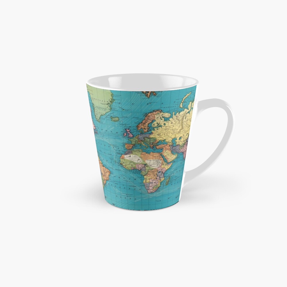 Vintage Map of The World (1897) Mug