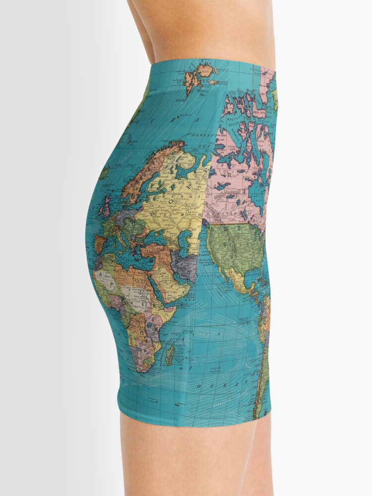 Alternate view of Vintage Map of The World (1897) Mini Skirt