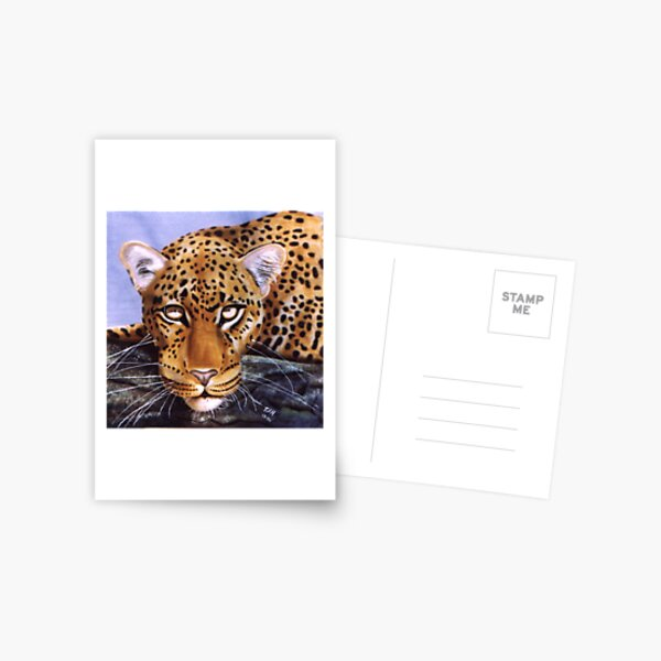 Big Cat Series #5 - Tree Leopard Postcard