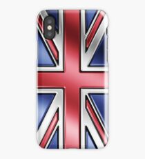 British Union Jack Flag 2 - UK - Metallic iPhone Case/Skin