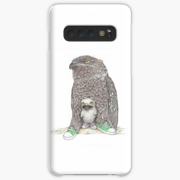 frog mouthed owl and baby in low tops Samsung Galaxy Snap Case