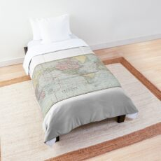 Vintage World Map (1901) Comforter