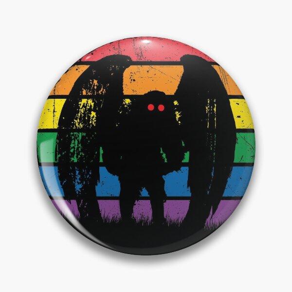 Mothman - Retro Vintage Rainbow Cryptid Gift Pin