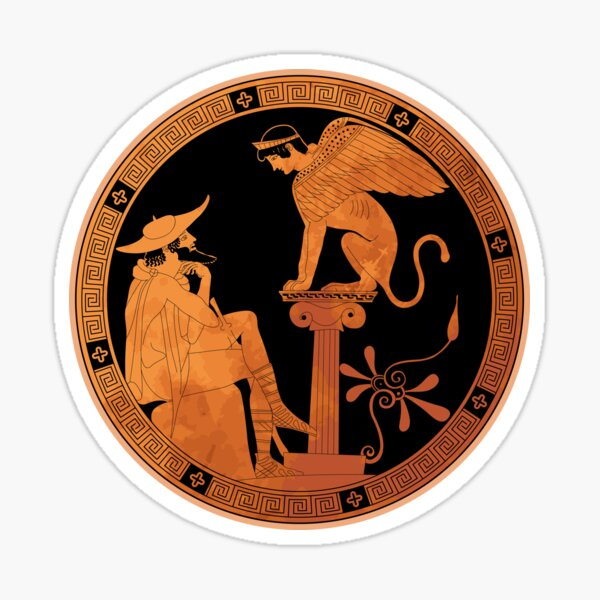 Sphinx of Thebes - Ancient Greece Sticker
