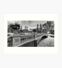 Bow Bridge Night Art Print