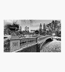 Bow Bridge Night Photographic Print